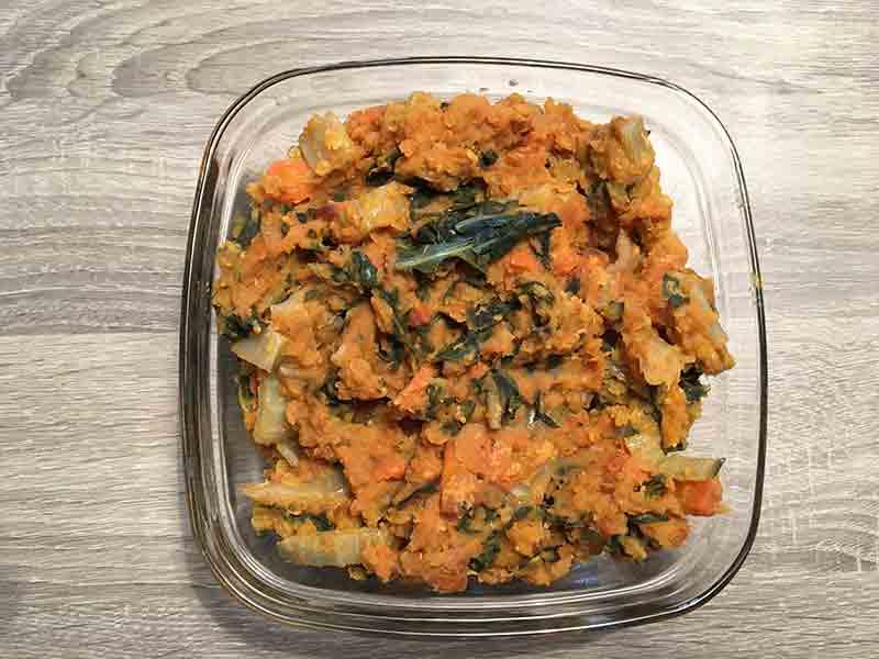 Lentilles Corail aux blettes