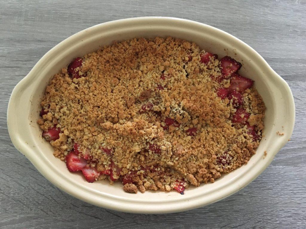 Crumble fraise rhubarbe